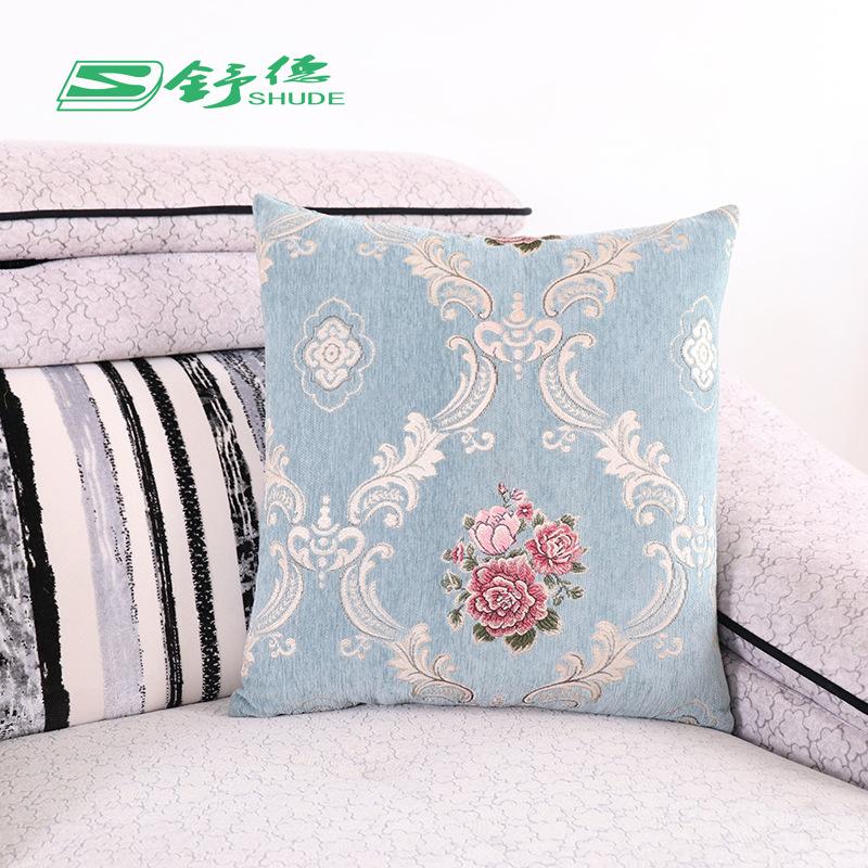 gối ôm Chenille Jacquard Gối Gối Trường hợp Quảng cáo Quà tặng Sofa Đệm Gối Pearl Cotton lót đầu giư