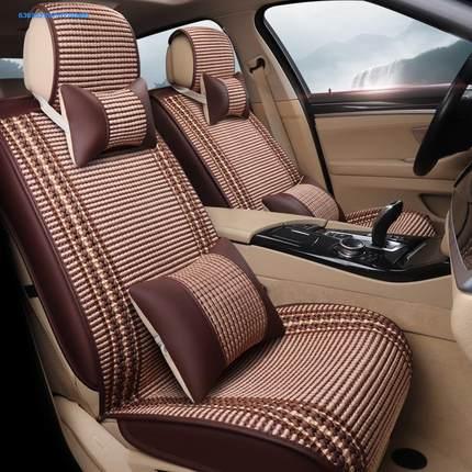 Bộ Bọc ghế xe ô tô bề mặt sợi polyester giúp chỗ ngồi thoáng mát .