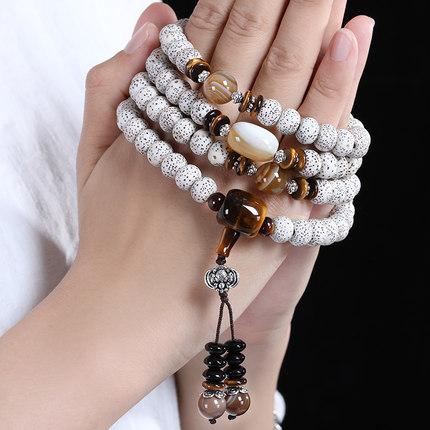 Chuỗi phật Hải Nam Xingyue Bodhi Bracelet Phật chuỗi hạt Chơi Vòng tay nam Bodhi Hạt giống gốc 108 M