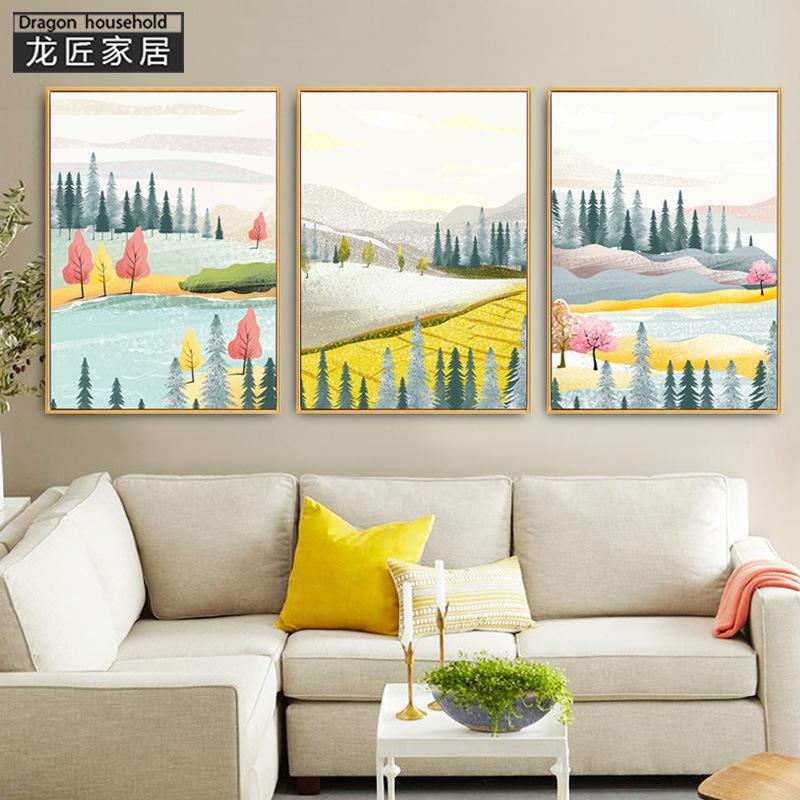 LONGJIANG Dragonsmith phòng khách hiện đại đơn giản treo tranh trừu tượng trang trí tường bức tranh