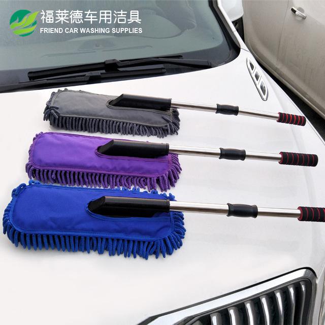 Bàn chải vệ sinh cho xe hơi có thể thu vào .