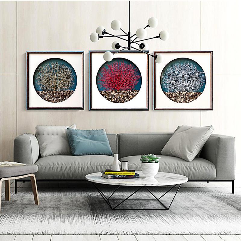 HGJS Tranh trang trí Nhà sản xuất nguồn mới Trung Quốc phong cách trang trí tường phòng khách sơn nh