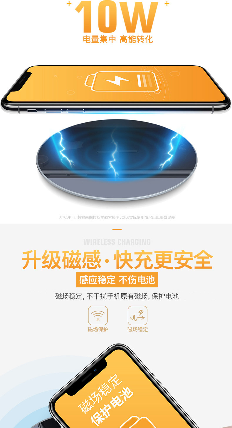 Sạc không dây Tulas iPhone11 Không giới hạn XR8Plus Xiaomi iPhone X / 18W Phụ kiện 8P cảm ứng Pro
