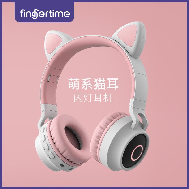 Tai nghe tai mèo dễ thương bluetooth không dây mới
