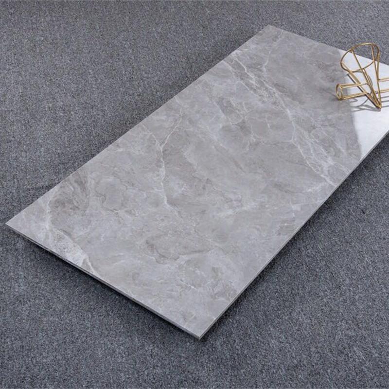 Đá hoa cương Gạch lát sàn đá cẩm thạch toàn thân Quảng Đông 600 * 1200 phòng khách lát sàn màu xám g
