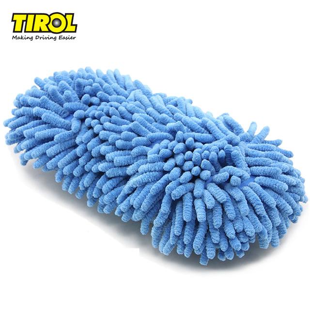 TIROL Mút Găng tay làm sạch xe TIROL Chenille Cleaning Sponge Block Rửa xe Sponge Làm sạch xe Sponge