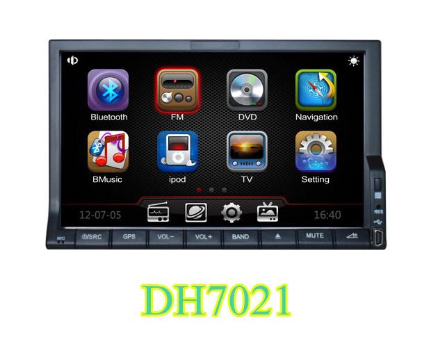 Xe đa phương tiện TV, xe hơi Điện thoại Bluetooth 7 inch điều hướng xe hơi DVD / CD đa năng