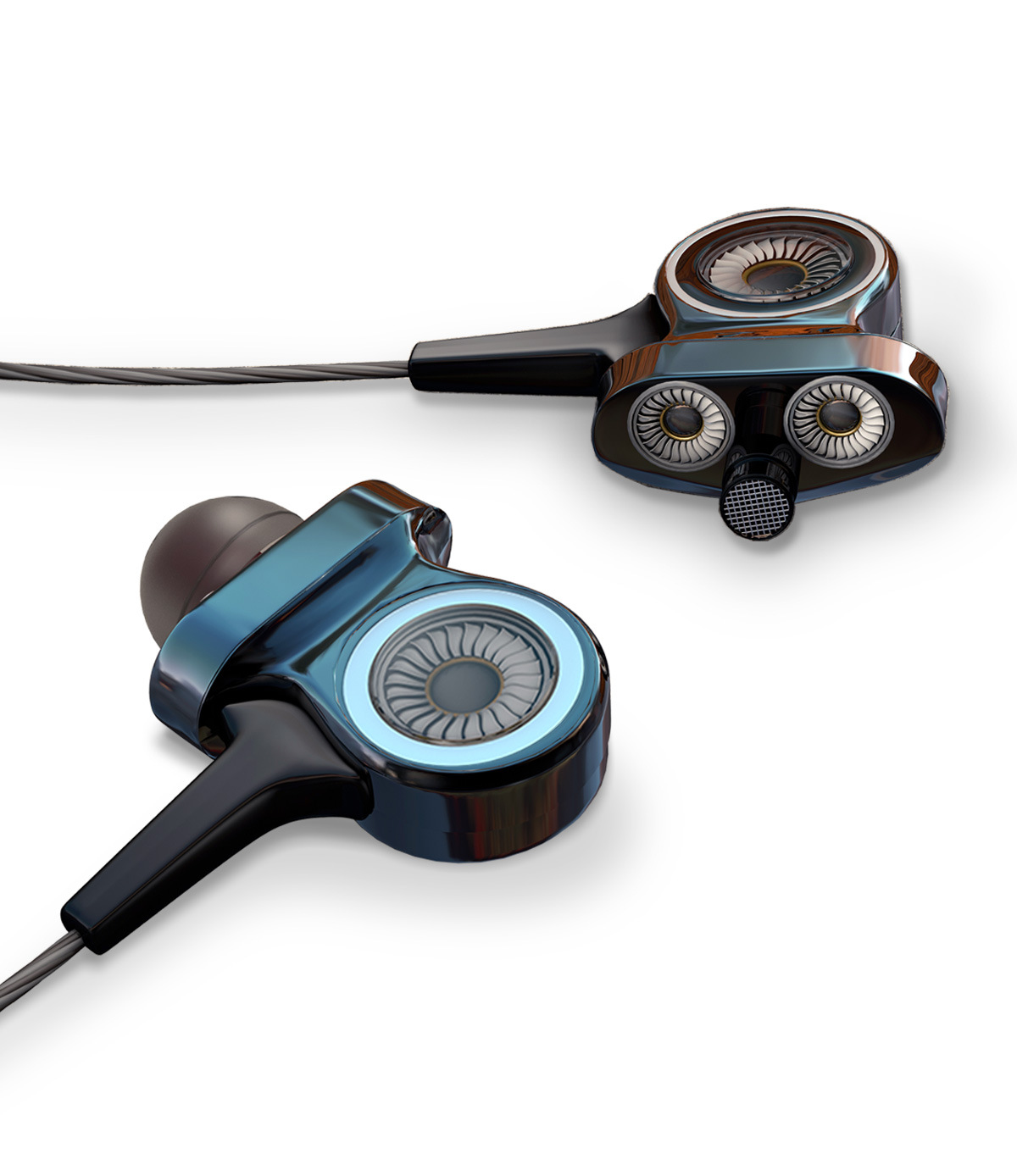 FMJ Tai nghe cuộn dây động trong tai nghe siêu trầm FMJi8