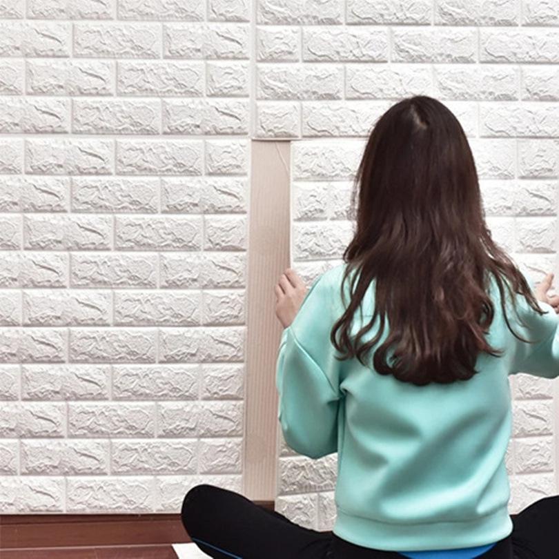 HONGDA Decal dán tường 3,5mm 3d ba chiều sticker tường tự dính phòng khách nền tường phòng ngủ ấm áp