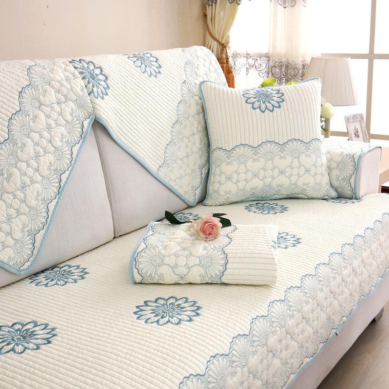 TIANZICAI Đệm lót SoFa Túi tóc giúp cotton đơn giản hiện đại Bắc Âu sofa đệm khăn bao gồm tất cả bao