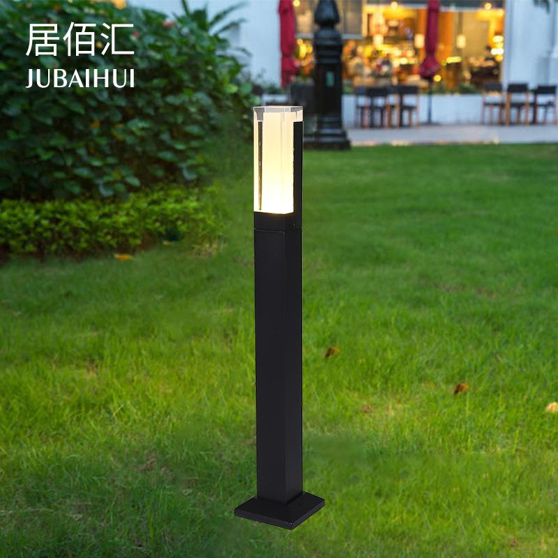 JUBAIHUI Đèn âm đất Cảnh quan hiện đại sân cỏ đèn cỏ đơn giản đèn sân vườn vuông ngoài trời đèn ngoà