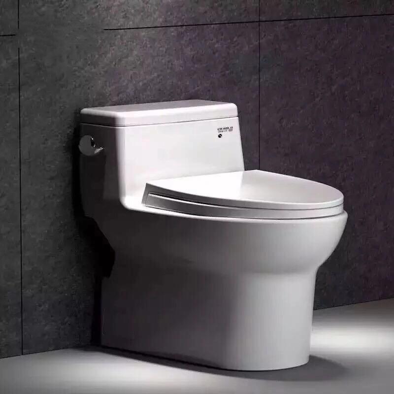 Misstao - Bồn cầu nhà vệ sinh phun gốm siphon tiết kiệm nước câm khử mùi CW886B