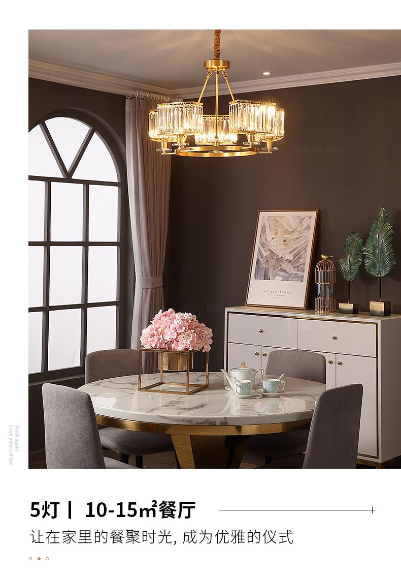 Đèn treo trần Đèn hậu sang trọng hiện đại đèn chùm đầy đủ phòng khách bằng đồng đèn nhà hàng phong c