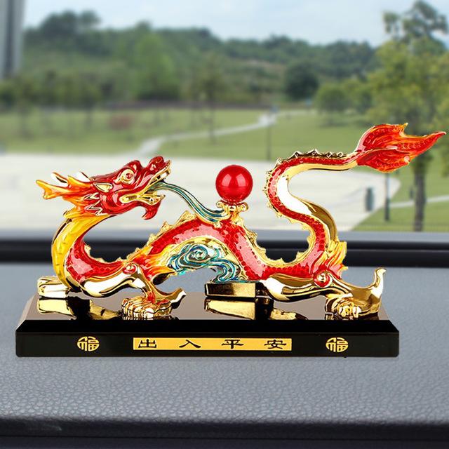 HAOXUAN Thị trường đồ trang trí xe hơi Túi cắt tóc xe nước hoa ghế rồng trang trí xe trang trí rồng