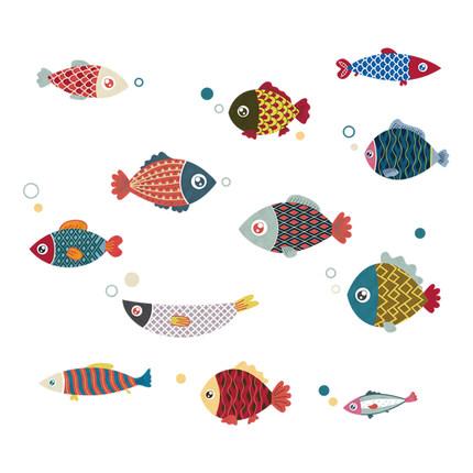 Lesign Giấy dán tường  Nhật Bản dán tường cá Nhật Bản cá tính sáng tạo hình nền tự dính hình nền tủ
