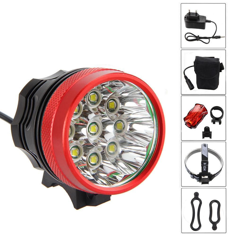 đèn xe Bán nóng Hợp kim nhôm có thể sạc lại Đèn pha xe đạp Đèn hậu LED Đèn xe đạp 9T6 Bán buôn Đèn p