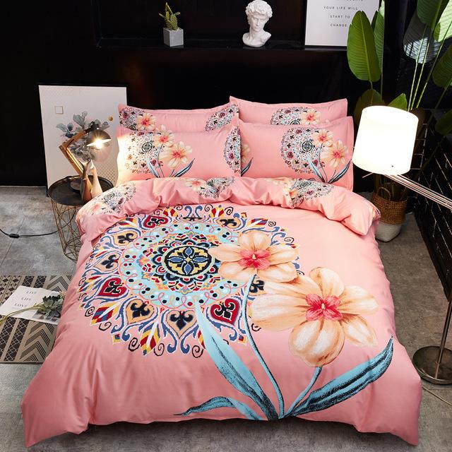 XFANN drap mền Các mô hình vụ nổ tận hưởng bộ đồ trải giường bằng vải lông dày phủ bốn mảnh dày của
