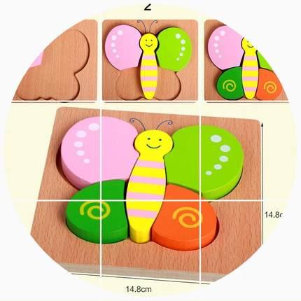 POPOHO - Đồ chơi Xếp hình 3D bằng gỗ cho trẻ sơ sinh .