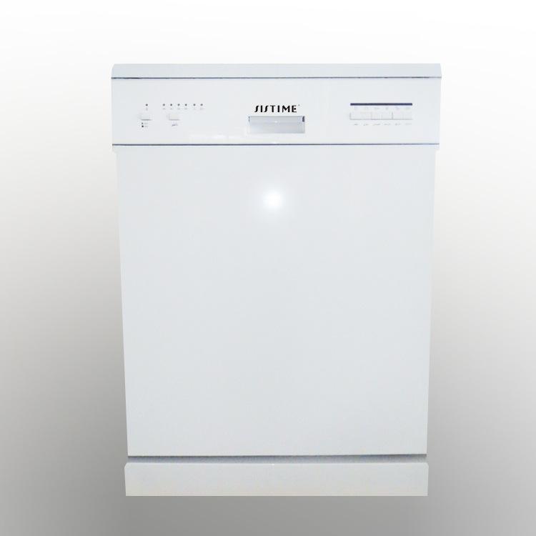 SISTIME Máy rửa chén tích hợp, máy rửa chén độc lập, máy rửa chén tự do màu trắng