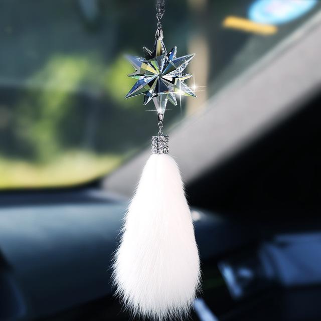 Mặt dây chuyền dễ thương bông tuyết treo cho xe hơi .