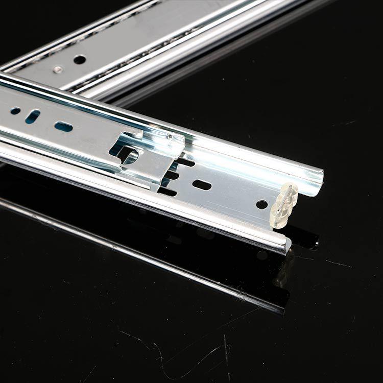 XIMENZI Ray trượt 45 Rộng Tri-Fold Steel Ball Slide Rails Tủ gia dụng Steel Ball Slides Ngăn kéo Tủ