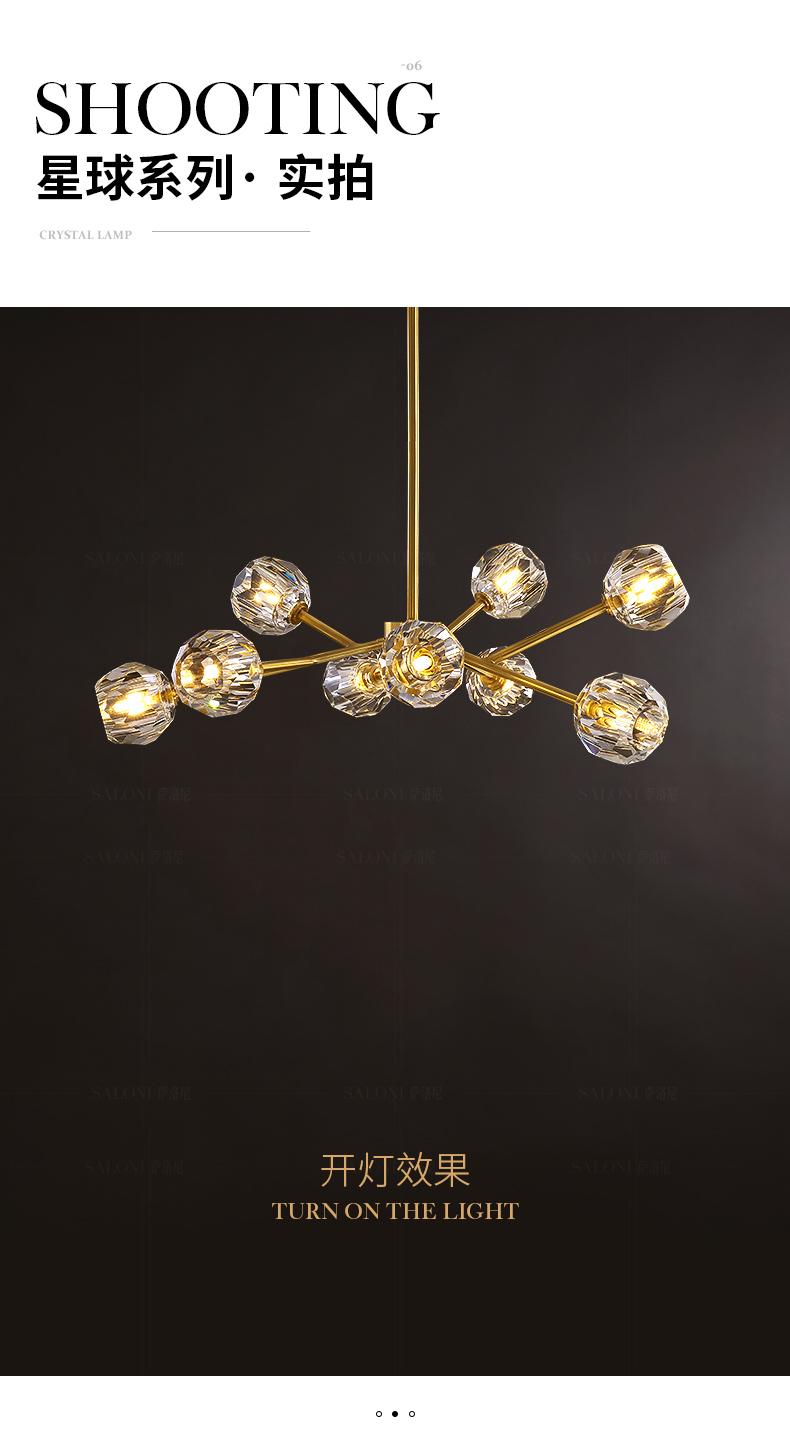 Đèn treo trần Tất cả đồng bài hiện đại ánh sáng sang trọng pha lê đèn chùm phòng ngủ phòng ăn phòng