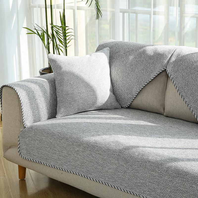 LIANYIFEI Đệm lót SoFa Túi kẹp tóc bằng vải cotton màu lanh đệm sofa vải chống trượt bốn mùa phổ quá
