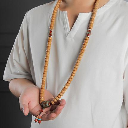 Chuỗi phật Code Red Xingyue Bodhi Bracelet Đàn ông và phụ nữ 108 Tết Nguyên đán Chen Seed Hạt cũ Hạt