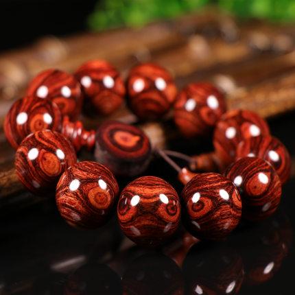 Chuỗi phật Vòng đeo tay nam Hải Nam Huanghuali 2.0 Nháy mắt hạt vòng đeo tay Pear Pear Chất liệu hạt