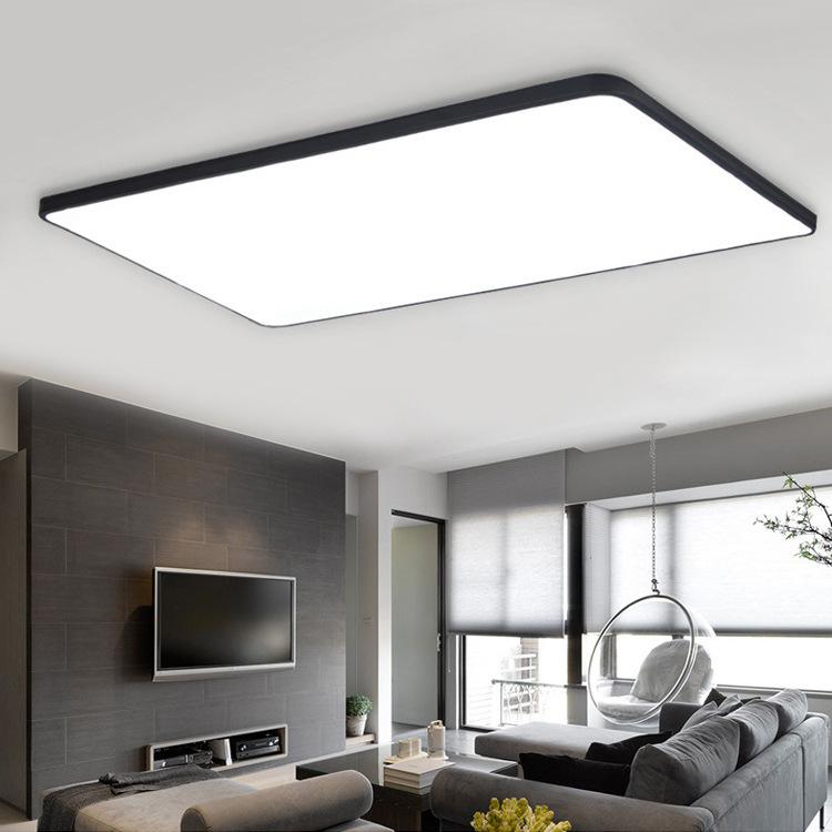 đèn ốp trần Đèn led siêu mỏng hiện đại tối giản vuông lối đi phòng ngủ phòng khách đèn acrylic sáng