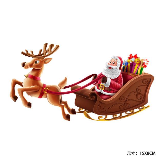 ETIESHOW Đề can xe hơi Túi giúp ông già Noel dán sticker vật liệu có thể tháo rời Giáng sinh xe trượ