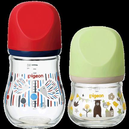 Bình sữa trẻ sơ sinh rộng rãi Zhenbao chai thủy tinh