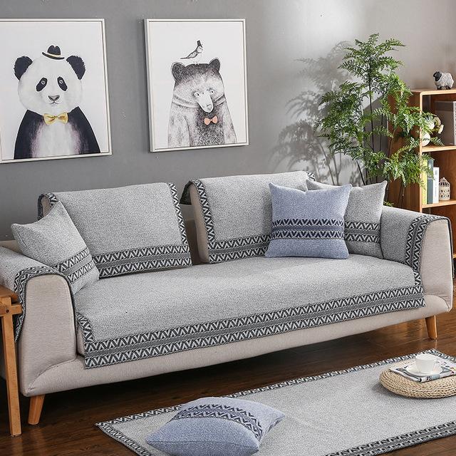 LIANYIFEI Đệm lót SoFa Bốn mùa phổ vải cotton và đệm sofa vải lanh tùy chỉnh nhà sản xuất bán buôn đ