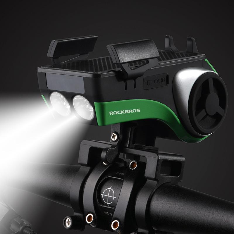 ROCKBROS đèn xe xe đạp âm thanh loa siêu trầm Bluetooth đi xe đạp điện thoại di động khung đèn loa s