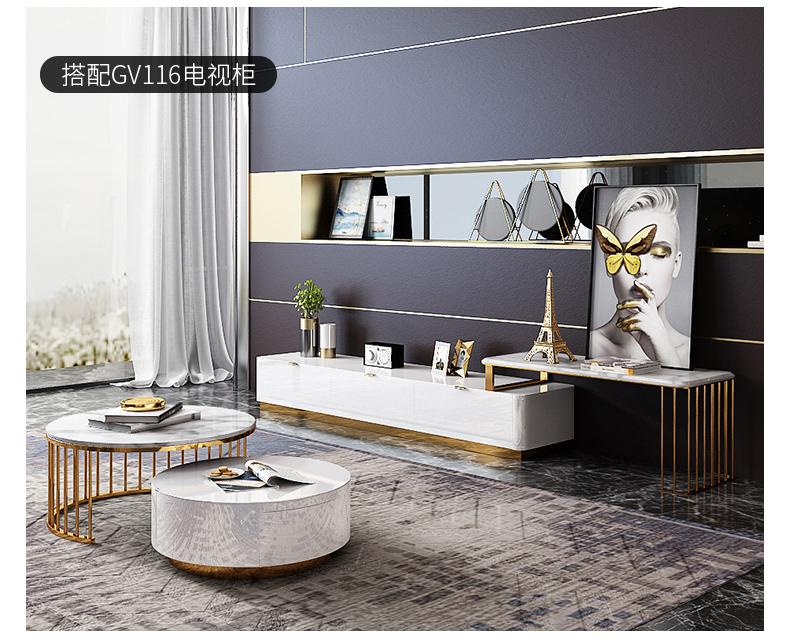 Bàn trà Yi Shang ánh sáng sang trọng bàn cà phê đơn giản hiện đại căn hộ nhỏ tròn bàn cà phê phòng k