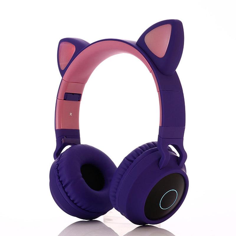 Tai nghe Bluetooth dạ quang mới dành cho trẻ em kiểu tai mèo .