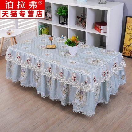 yimu Bàn trà  Nông thôn Mới Ren Bìa Vải hình chữ nhật Bàn Mat Phòng khách Hộ gia đình Khăn trải bàn