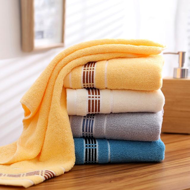 JUNFAN Thị trường khăn Cần thiết hàng ngày bán buôn khăn bông cao cấp đồng bằng mềm thấm nước không