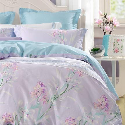 Mercury Bộ drap giường  nhà dệt chính hãng cotton ba hoặc bốn mảnh chăn bông tấm 1,8m giường 1,5m đô