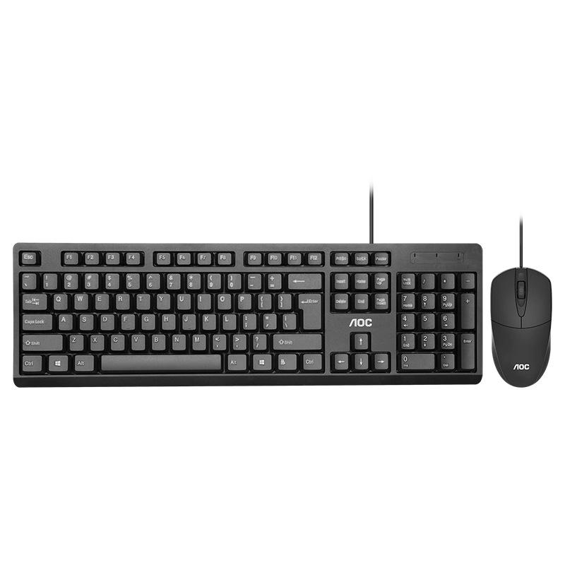 AOC Bộ bàn phím + chuột Bộ bàn phím chuột có dây AOC KM160 đặt trò chơi văn phòng tại nhà Bàn phím v