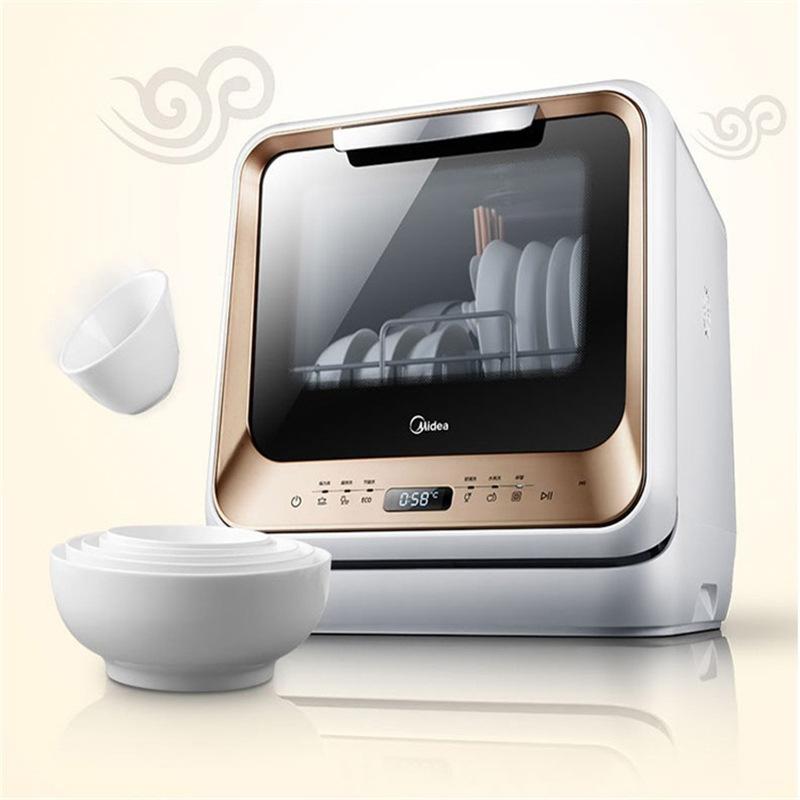 Midea Máy rửa chén đẹp m1 hộ gia đình tự động sấy khô máy rửa chén thông minh mini miễn phí lắp đặt