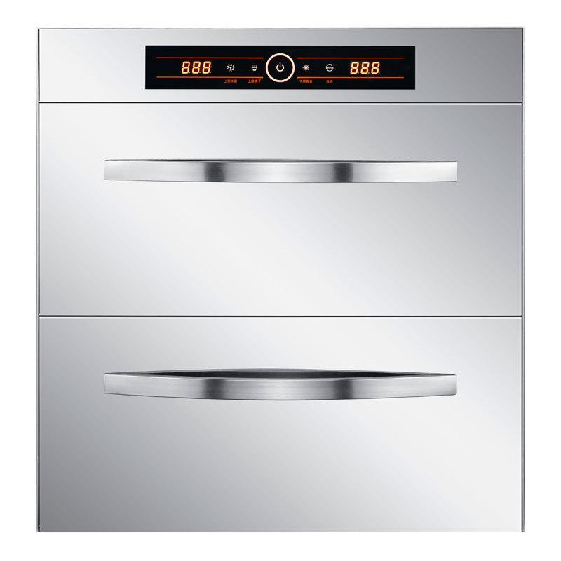 Tủ khử trùng hộ gia đình nhúng khảm bếp đôi cửa inox tủ khử trùng UV nhiệt độ cao ozone OEM