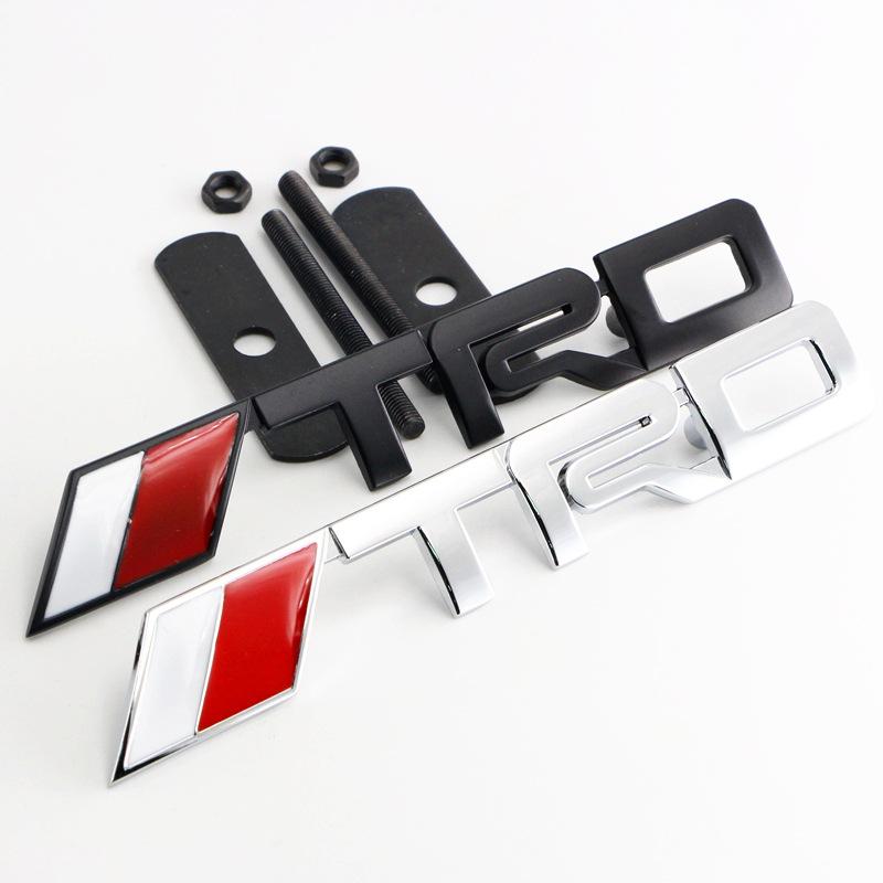 QUSU Đề can xe hơi Nhãn dán xe cá tính TRD tiêu chuẩn kim loại sửa đổi trong tiêu chuẩn mạng Reiz tr
