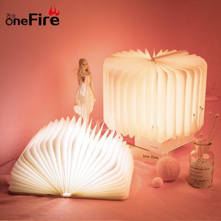ONEFIRE  Đèn tường  Ánh sáng cuốn sách ánh sáng LED đêm ánh sáng lật cuốn sách sáng tạo lãng mạn mơ