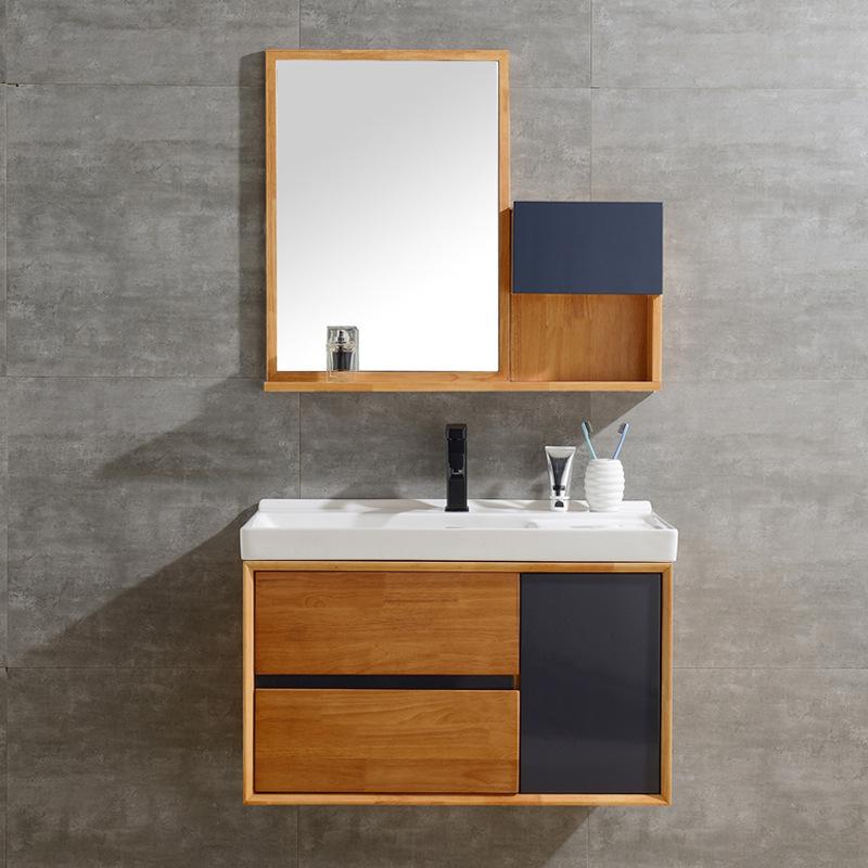 Tủ phòng tắm chậu rửa kết hợp tủ gương kiểu treo tường .