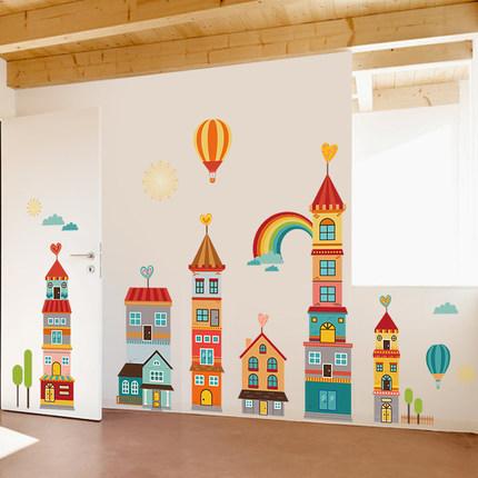 Lesign Giấy dán tường  Trang trí phòng trẻ em dán tường mẫu giáo hình nền tự dính hình nền nền văn h