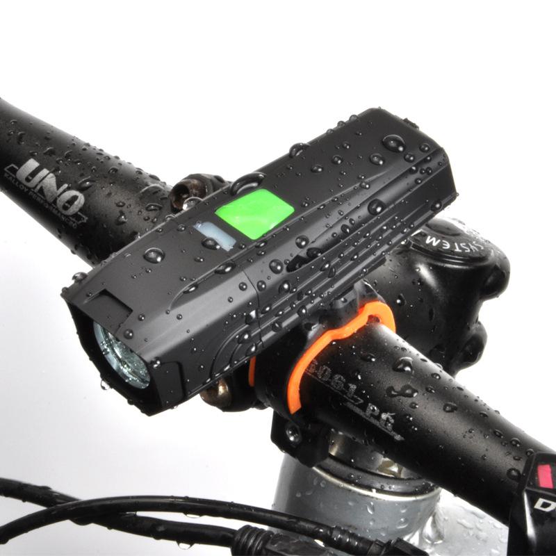 FUHONGTAI Đèn xe đạp Đèn pha USB Đèn pin sạc T6 Đèn chiếu sáng Núi Xe đạp Ánh sáng Đèn pha LED Ánh s