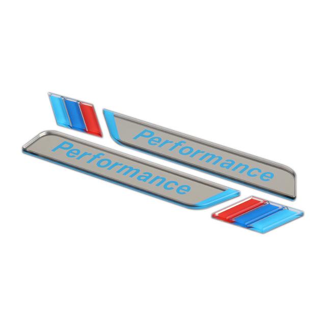 LANYUN Đề can xe hơi Túi trợ giúp cho logo tấm lá sửa đổi của BMW | Mới 3 Series Mới 5 Series | Cửa