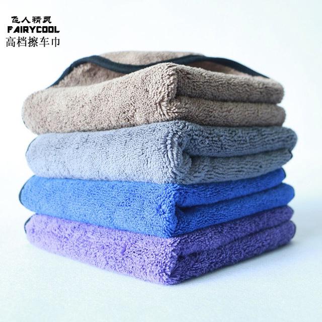 FAIRYCOOL Khăn lau xe Bán buôn khăn lau xe cao và dày làm ướt xe 40 * 40 sợi đánh bóng sạch khăn rửa