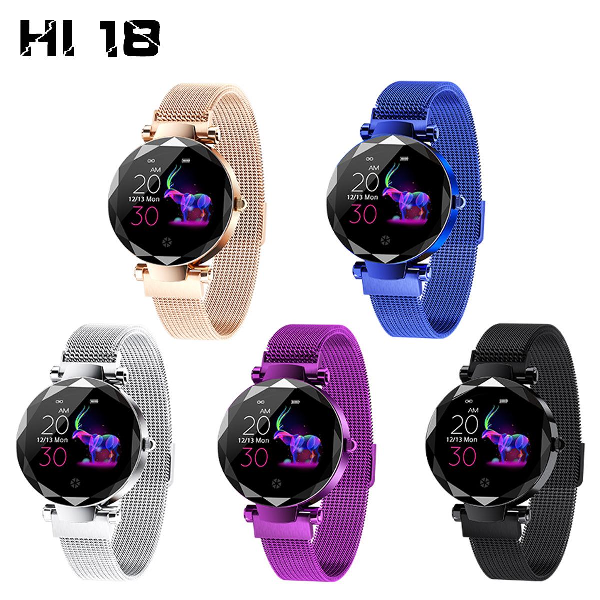 Đồng hồ đeo tay nữ thông minh HI 18  đồng hồ sinh lý nhịp tim huyết áp đa chế độ